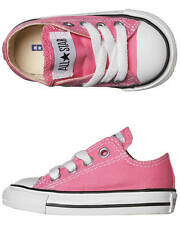 New Converse Girls Tots Chuck Taylor All Star Lo Shoe Canvas Shoes Pink
