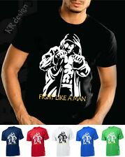FIGHT LIKE A MAN - Hooligans T shirt Ideal for Training Gym Sport MMA Fighters