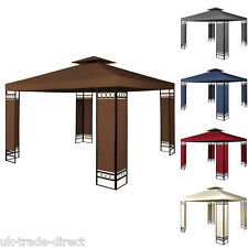3m x 3m Metal Gazebo  Canopy Awning Marquee Round Party Tent with Sides
