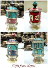 Tibetan Buddhist Handmade Desk Prayer Wheel from Nepal - Gifts From Nepal P100