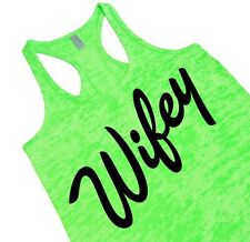 Wifey Tank Top Burnout Racerback Tank Cute Wedding Shower Gift For Bride To Be