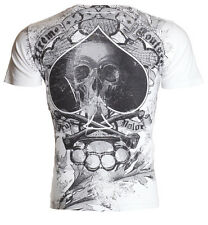 Xtreme Couture AFFLICTION Men T-Shirt SPADE Skull Tattoo Biker MMA UFC M-4XL $40
