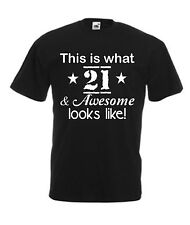 Funny Mens 21st Birthday T-Shirt Top Tee For Xmas Present Christmas Gift New