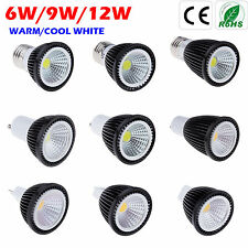 E27 MR16 GU10 COB Ultra Brillante del LED de Lamp Bulb luz bombilla Neuvo Black