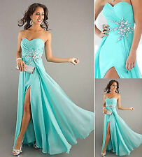 Hot Mint Chiffon Long Prom Dress Evening Party Formal Bridal wedding gown Stock