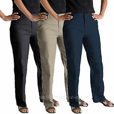 Womens Work Pants Dickies Flat Front Pant FP111 Relaxed fit Black Navy Khaki