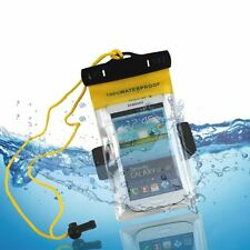 Universal Clear PVC Waterproof Pouch Case Bag For Samsung, HTC, Sony, LG & Nokia