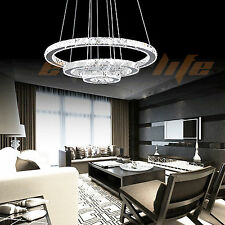 Modern Galaxy Crystal Chandelier Circles Pendant LED Light Ceiling Lamp Lighting