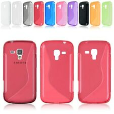 Soft Gel TPU Rubber Silicone Skin Case Cover For Samsung Galaxy S Duos GT-S7562