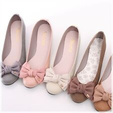 BN Comfy Casual Low Wedge Heels Wedding Ballerina Bowed Ballet Flats Many Colors