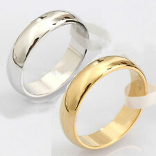 Fashion Men's & Women's 4.5mm Width Band Ring Plain Engagement Wedding 18KGP