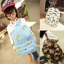 Stylish Casual Traveling Bag Retro Floral Cloth Canvas School Backpack EQ274
