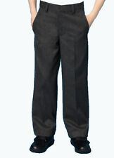 4550 Boys Black and Grey School Trousers, Uniform, 9-16 Years Wool Blend