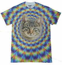 Mesmerizing Malkin Psychedelic Kitty Cat Graphic T-Shirt New with Tags