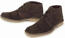 ROAMERS Retro Men's Ladies Lined Chisel Toe Shaped SUEDE Desert BOOTS - Brown