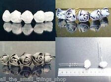 Silk Satin Rose Flower Wedding bridal Hair Pins White Black Blue Pink Red 1 5 10