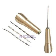 Canvas Leather Tent Sewing Awl Hand Stitcher Leathercraft Needle Kit Tool NI5L