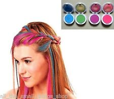 Hair chalk compacts temporary colour pink green blue purple buy 3 get 1 free