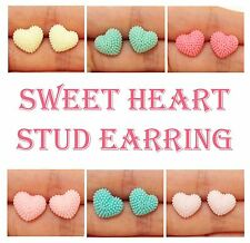 Lady Fashion Exquisite Colourful Sweet Heart/Love Stud Pin Earrings Gift