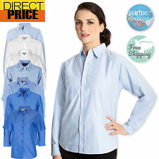 Ladies Shirt Blouse Easy care Casual Fit Business Office Cotton Womens Tops