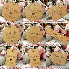 Personalised Brown Kraft Paper Wedding Favour Tags/Thank You Tags/ Gift Tags
