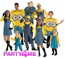 ADULT KIDS BOYS GIRLS LADIES MENS DESPICABLE ME GRU MINION FANCY DRESS COSTUME