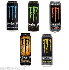 Monster Energy Drinks All Flavours 12 x 500ml Cans Bulk Wholesale Soft Drinks