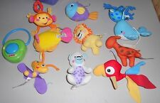 FISHER PRICE BABY MUSICAL MOBILE REPLACEMENT PARTS ANIMALS