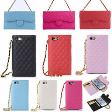 Luxury Leather HandBag Holder Chain Wallet Card Flip Case Cover for iPhone Sumsu