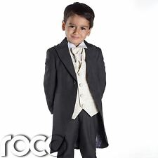 Baby Boys Grey Suit, Baby Boys Tail Suits, Wedding Suits, Page Boy Suits