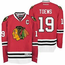 Chicago Blackhawks Jonathan Toews #19 Red Reebok Premier Stitched Jersey