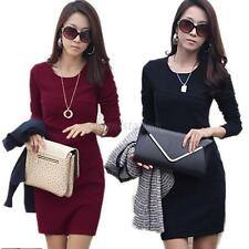 Elegant Women's Dress Tunic Sexy Long Sleeve Slim Cocktail Causal Dresses Hot