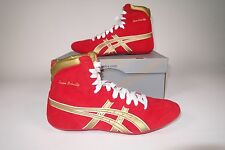 Asics Dave Schultz Classic Red/Gold/White Wrestling Shoe Various Sizes