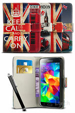 Vintage London Heritage Wallet Flip Case Cover for Mobile Phone & Stylus Pen