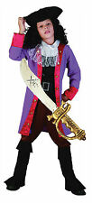 Boys Kids Childrens PIRATE CAPTAIN HOOK Fancy Dress Costume Outfit Hat & Sword