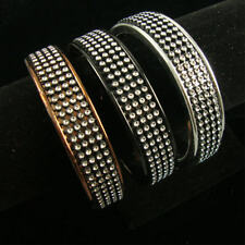 """1/2"""" WIDE STONE EFFECT METALIC COLOR BANGLE BRACELET/ 4 COLORS TO CHOOSE FROM!"""