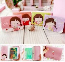 Korean Girl Lovely Business ID Credit Card Wallet Holder Pocket Bag Case Cute