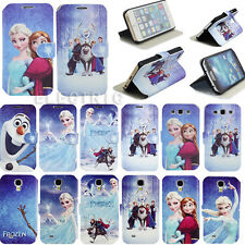 Cartoon Disney Frozen Image Leather Cover For Apple iPhone 6 6 Plus Mobile Phone