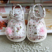 Lovely Shoes Kid Girl Baby Princess Walking Sandals Shoes Flower Lace Crib