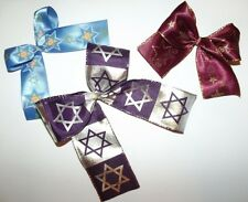 JEWISH Israel BOWS Hanukkah CRAFT HAIR BOW Dreidel BAT MITZVAH party ribbons