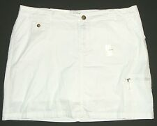 Croft & Barrow Cargo White Twill Utility Skort Skirt Scooter Shorts Natural Fit