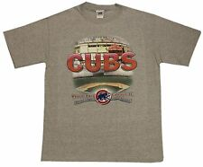 Chicago Cubs Stadium National League Central Division Grey T-shirt