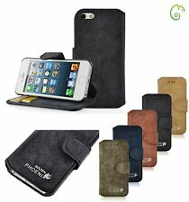 Genuine Golden Phoenix Real Suede Leather Buckle Case Cover For New iPhone 5S, 5