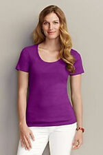 EDDIE BAUER Womens Regular or Tall S/S Scoop/V-Neck T-SHIRT Pink Green Mauve NWT