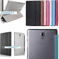 Folio Stand Case Smart Transparent Cover For Samsung Galaxy Tab S 8.4 T700 T705