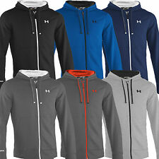 """NEW 2015"" UNDER ARMOUR FULL ZIP STORM RIVAL SPORTS MENS HOODIE / HOODY TOP"