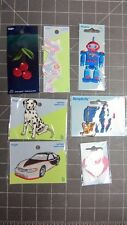 APPLIQUES: WRIGHTS&SIMPLICITY:ROBOT,SEWING MACHINE,CAR,CHERRIES,DOG,CAT,HEART