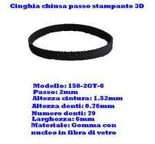 CINGHIA 3D PRINTER CHIUSA.BELT CLOSED LOOP GT2 TIMING MENDEL PRUSA FLASHFORGE