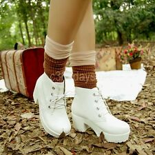New Vintage Women Ladies Sandals High Heel Platform High Heels short boots 3DS