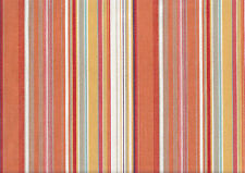 Orange Striped Upholstery Canvas Cotton Fabric, 150cm wide, cushions, covers